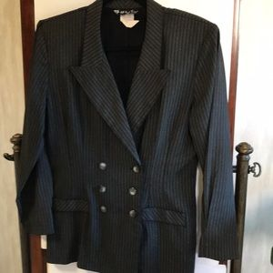 All That Jazz  double-breasted pinstripe blazer